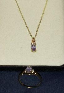 10K Gold Necklace & Ring Set